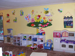 enchanting fun playroom ideas for kids with cream paint wall and