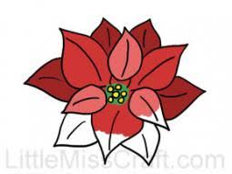 poinsettia coloring pages crafts christmas coloring pages
