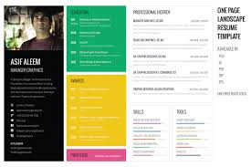 Free Resume Templates For Download Landscape Resume Cv Template Resume Templates Creative Market