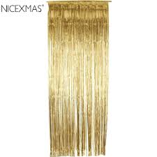 Gold Curtain Online Get Cheap Gold Curtain Metallic Foil Curtain Aliexpress