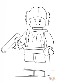 star wars legos coloring pages princess leah coloring home