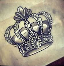 gray crown tattoo design idea
