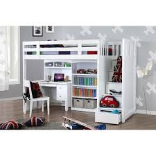 loft bed with desk my design bunk bed k single w stair desk w hutch bookcase 104038