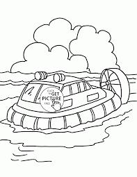 passenger hovercraft coloring page for kids transportation