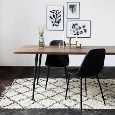 house doctor zena rug 140x200 cm black white cotton living and co