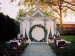 wedding backdrop altar wreaths glamorous oversized wreath breathtaking oversized wreath