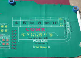 Crap Table For Sale Taj Mahal Trump Atlantic City Casino Authentic Craps Layout Felt