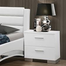 White Modern Desk by Nightstand Dazzling White Tall Headboards Matresses Grey Pillows