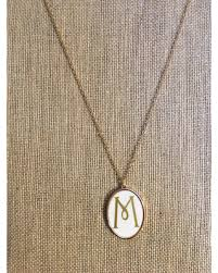 monogrammed pendant shopping sales on white enamel monogrammed pendant necklace