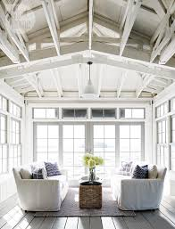 house tour neutral nautical lake house boathouse sunroom and