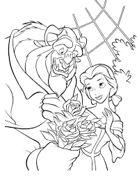 beauty and beast 3 coloringcolor com