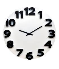 klok 3d analog wall clock white wall clock buy klok 3d analog