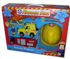 fireman sam friction jupiter fire engine rescue playset includes