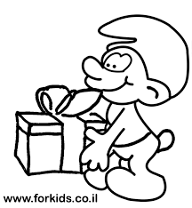 smurf coloring pages jokey smurf coloring page for kids www forkids co il coloring