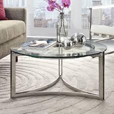 Glass Waterfall Coffee Table Glass Coffee Tables You U0027ll Love Wayfair