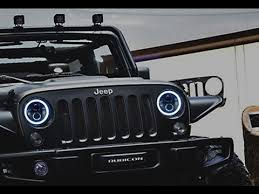 led jeep wrangler headlights ijdmtoy jeep wrangler led headlights with switchback halo rings