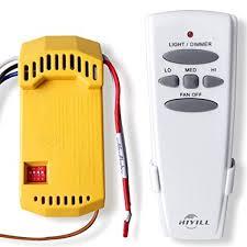 add remote to ceiling fan amazon com hiyill universal ceiling fan wireless remote control kit