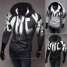 best autumn letter print male slim word hoodies fleece casual