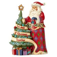 Jim Shore Christmas Decorations Sale by Jim Shore 15th Anniversary Santa With Tree Figurine Figurines