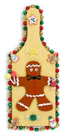 nicole crafts gingerbread cutting board christmas kids craft
