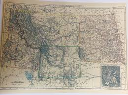 Montana Wyoming Map by Wyoming Map Set 1868 Territory To 1896 State