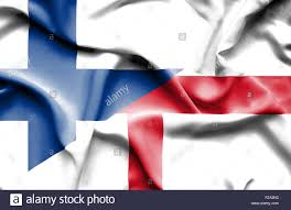 waving flag of england and finland stock photo royalty free image