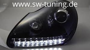 porsche cayenne headlights swlight hid headlights for cayenne 955 9pa 02 07 black sw tuning