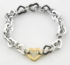 tiffany silver bracelet with heart images Tiffany co impressive vintage tiffany co sterling 18k gold jpg