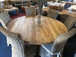 Reclaimed Dining Room Table Reclaimed Teak Character Round 130cm Dining Table Reclaimed