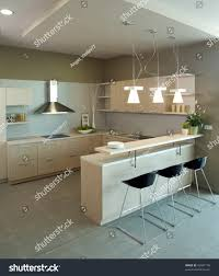 Modern Kitchen Interior Beautiful Modern Kitchen Interior Design Stock Illustration