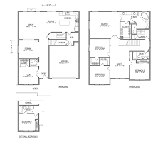 Square Floor Plans For Homes Waterbrook Two Story New Home