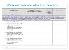 Excel Project Management Template Microsoft Ms Word Implementation Plan Template Microsoft Word Templates