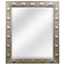 Beveled Bathroom Mirror by Shop Allen Roth Champagne Beveled Wall Mirror At Lowes Com