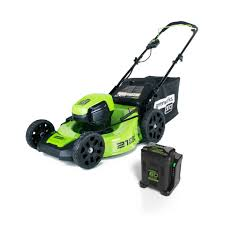 shop greenworks pro 60 volt brushless lithium ion li ion 21 in