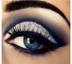 silver eye makeup with plum instead of the navy
