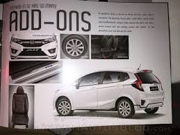 honda car accessories 2015 honda jazz accessories announced for india