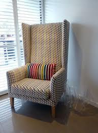 Modern High Back Wing Chair Custom Upholstered Contemporary High Back Wing Chair And Bench