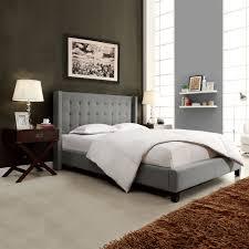 oxford creek jaxone grey linen wingback king size bed home