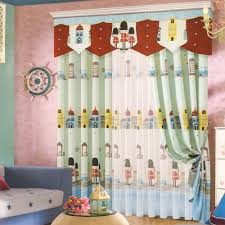 cartoon patterns kids curtains boys for bedroom no valance