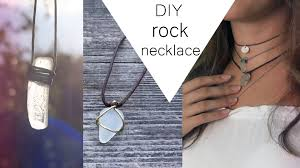 silver rock necklace images Diy rock necklace jpg