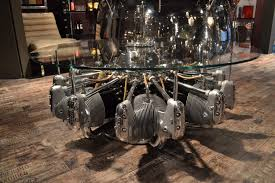 coffee table made from original aircraft radial engine table a