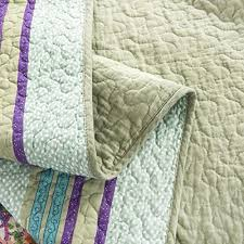 Blue Quilted Coverlet Dada Bedding Frosted Pastel Gardenia Bohemian Reversible Cotton