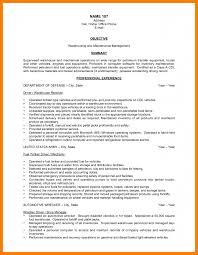 Maintenance Objective Resume 8 Warehouse Resume Objectives Park Attendant