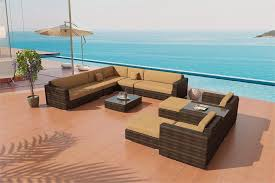 mezzo modern outdoor wicker sectional sofa patio furniture san diego