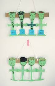 seder cups passover craft for kids four cups of wine paper doll chain