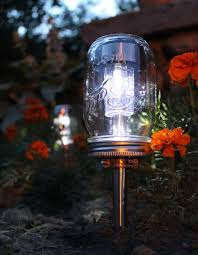 jar lights for a romantic look of your backyard