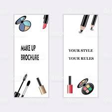 makeup artist business card template items pattern stock vector
