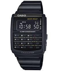 bracelet digital watches images Casio men 39 s digital calculator vintage black resin bracelet watch tif