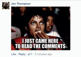 Meme Photo Comments - we asked you delivered your favorite i just came here to read the