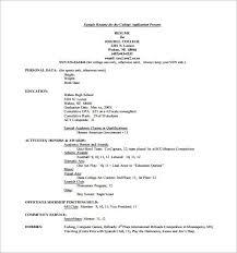 Academic Resume Builder Academic Resume Template For College Resume Template For College